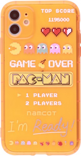 Coque iPhone 11 - Gel pac-man orange