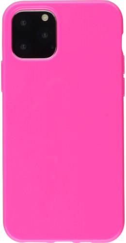 Coque iPhone 11 - Gel rose foncé