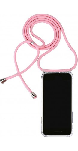 Coque Samsung Galaxy S20+ - Gel transparent avec lacet rose