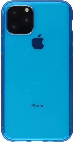 Coque iPhone 11 - Gel transparent bleu