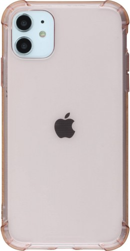 Coque iPhone 11 - Gel transparent bumper rose