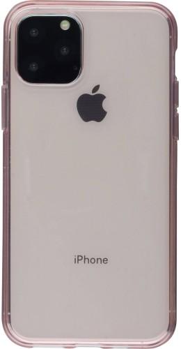 Coque iPhone 11 Pro - Gel transparent rose clair