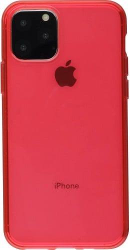 Coque iPhone 11 Pro - Gel transparent rouge
