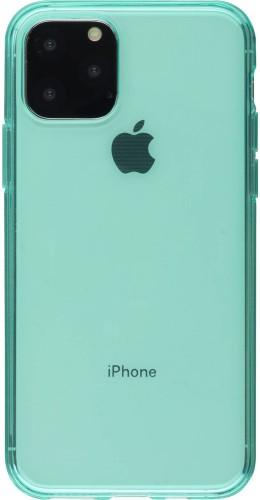 Coque iPhone 11 - Gel transparent vert menthe