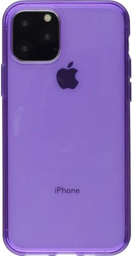 Coque iPhone 11 - Gel transparent violet