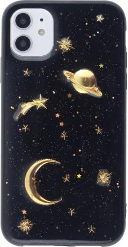 Coque iPhone 11 - Glass 3D Espace noir