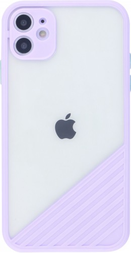 Coque iPhone 11 - Glass Line violet