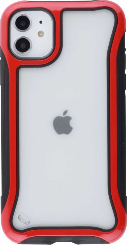 Coque iPhone 11 - Hybrid Frosted rouge