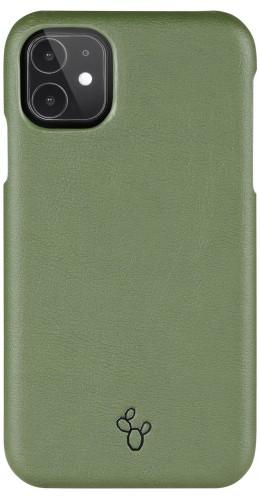 Coque iPhone 11 - NOPAAL cuir de cactus vegan vert pampa