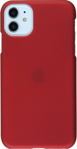 Coque iPhone 11 - Plastic Mat bordeau