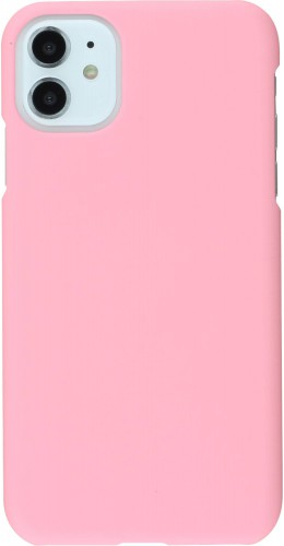 Coque iPhone 11 - Plastic Mat rose