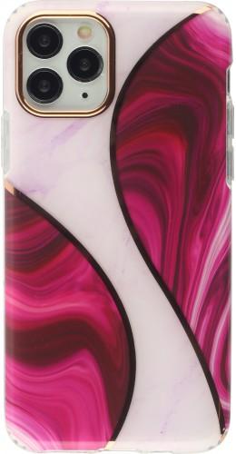 Coque iPhone 11 Pro - Bright line courbe rose