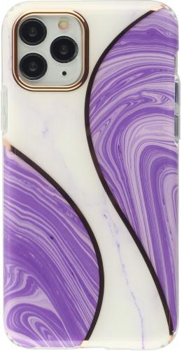 Coque iPhone 11 Pro - Bright line courbe violet