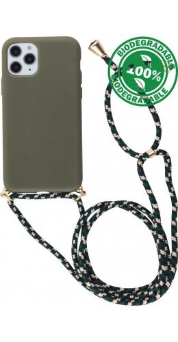 Coque iPhone 11 Pro Max - Bio Eco-Friendly Lacet vert foncé