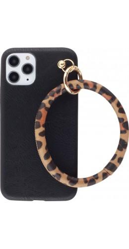 Coque iPhone 11 Pro - Bracelet cuir noir