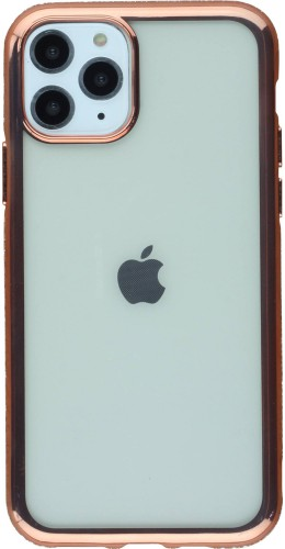 Coque iPhone 11 Pro Max - Bumper Diamond or rose