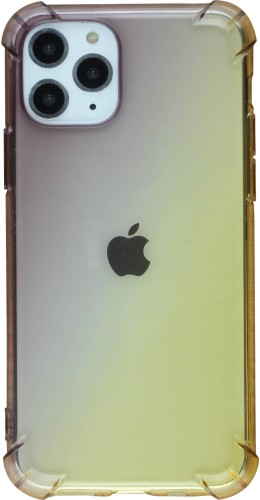 Coque iPhone 11 Pro - Bumper Rainbow brun jaune