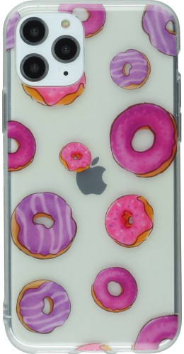 Coque iPhone 11 Pro - Clear Donuts rose