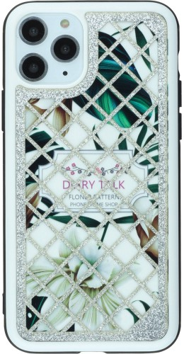 Coque iPhone 11 Pro - Diary Talk Flower argent