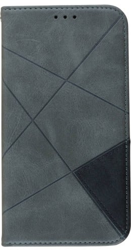 Coque iPhone 11 Pro - Flip Géometrique gris