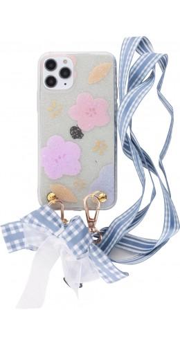 Coque iPhone 11 Pro - Flowers avec lacet