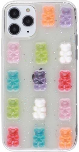 Coque iPhone 11 Pro - Gel Bonbons Oursons 3D