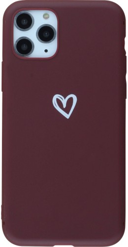 Coque iPhone 11 Pro - Gel coeur rouge