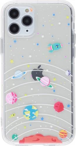Coque iPhone 11 Pro - Gel dessin système solaire