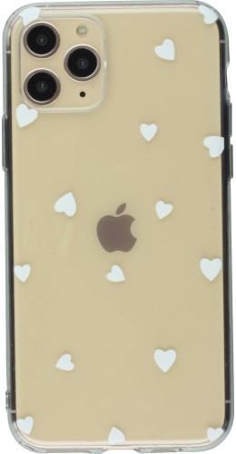 Coque iPhone 11 Pro - Gel petit coeur blanc