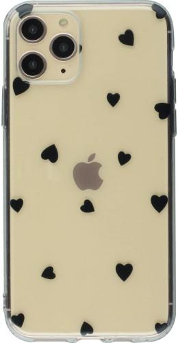 Coque iPhone 11 Pro Max - Gel petit coeur noir