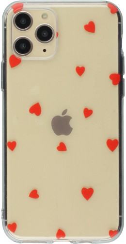 Coque iPhone 11 Pro Max - Gel petit coeur rouge