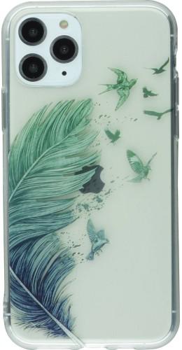 Coque iPhone 11 - Gel plume oiseaux