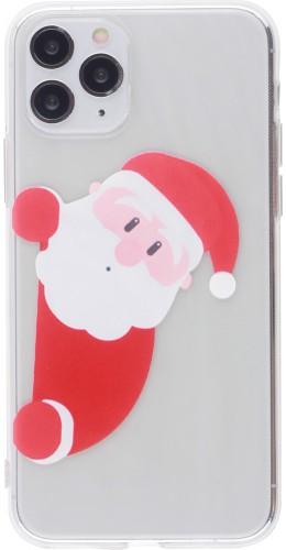 Coque iPhone 11 Pro - Gel transparent Noël santa