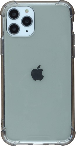 Coque iPhone 11 Pro - Gel transparent bumper noir