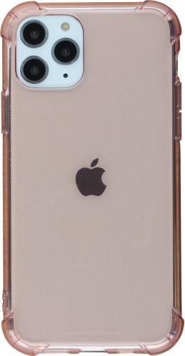 Coque iPhone 11 Pro Max - Gel transparent bumper rose
