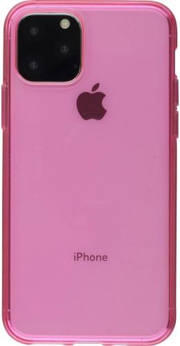 Coque iPhone 11 Pro - Gel transparent rose foncé
