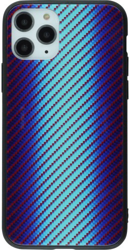 Coque iPhone 11 Pro - Glass Carbon bleu