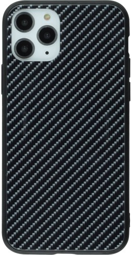 Coque iPhone 11 - Glass Carbon noir