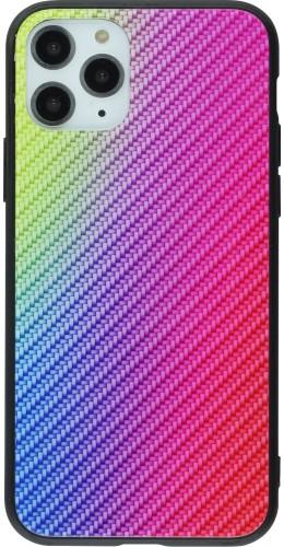 Coque iPhone 11 - Glass Carbon violet