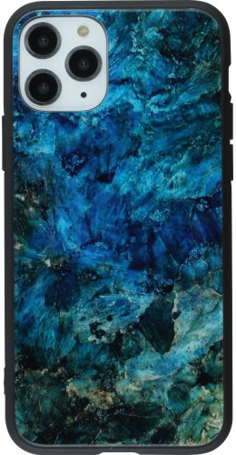 Coque iPhone 11 Pro - Glass Marble bleu