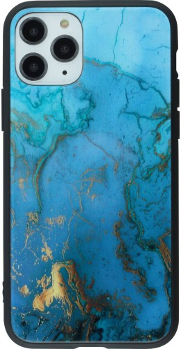 Coque iPhone 11 Pro - Glass Marble or bleu