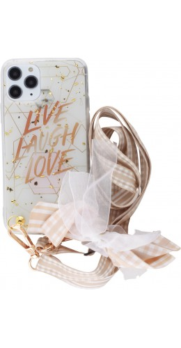 Coque iPhone 11 Pro - Gold Flakes Live Lacet