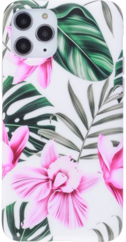 Coque iPhone 11 Pro Max - Jungle Orchidée rose