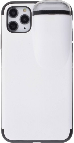Coque iPhone 11 Pro Max - 2-In-1 AirPods blanc
