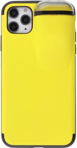 Coque iPhone 11 Pro Max - 2-In-1 AirPods jaune