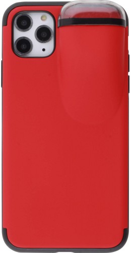 Coque iPhone 11 Pro Max - 2-In-1 AirPods rouge