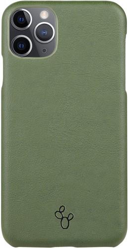 Coque iPhone 11 Pro Max - NOPAAL cuir de cactus vegan vert pampa