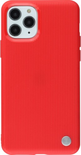 Coque iPhone 11 Pro Max - Strip Line Metal rouge