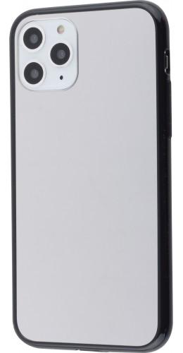 Coque iPhone 11 Pro - Miroir bords en silicone noirs