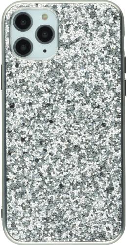 Coque iPhone 11 - Paillettes argent